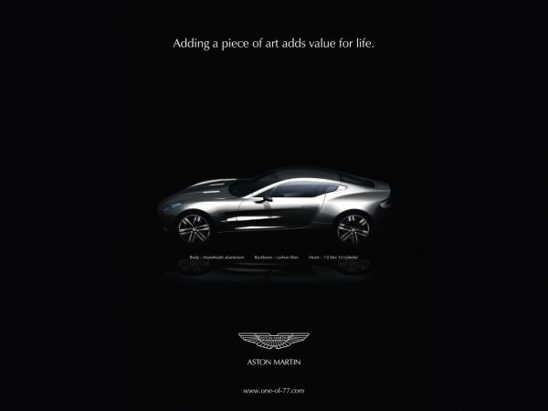 2009 Aston Martin One 77 Advertisement 1280x960