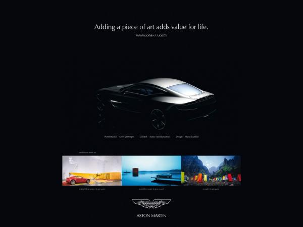 2009 Aston Martin One 77 Advertisement 2 1280x960