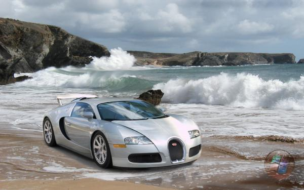 Bugatti Veyron On The Sands