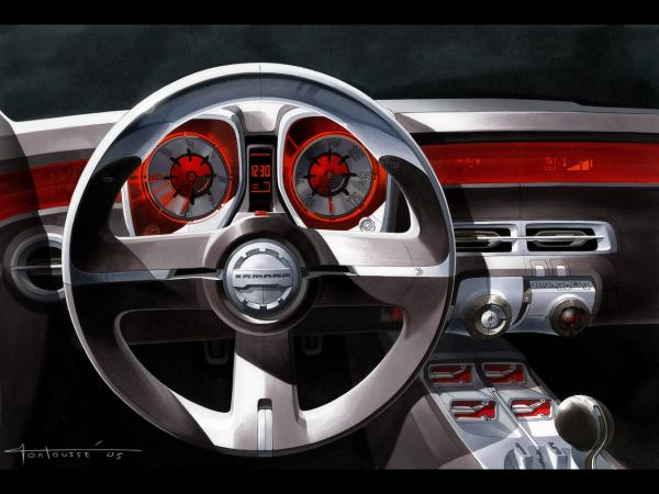 2006 Chevrolet Camaro Concept Drawing Dashboard 1280x960