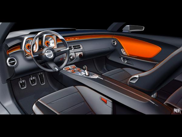 2006 Chevrolet Camaro Concept Drawing Interior 1920x1440