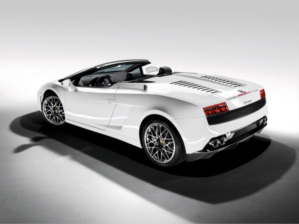 2009 Lamborghini Gallardo Lp 560 4 Spyder Rear And Side Top Down 1280x960