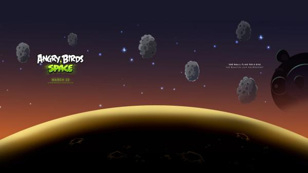 Angry Birds Space Wallpaper 01