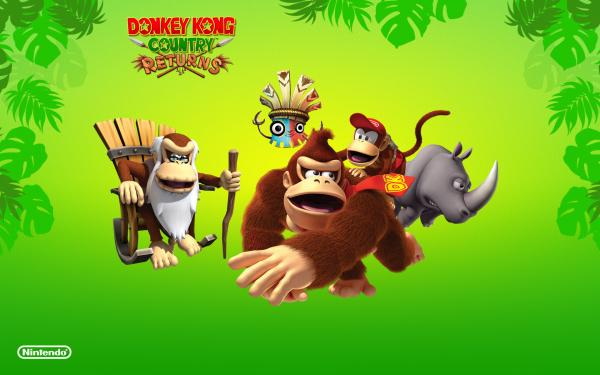 Donkey Kong Country Returns Box Art Wallpaper4