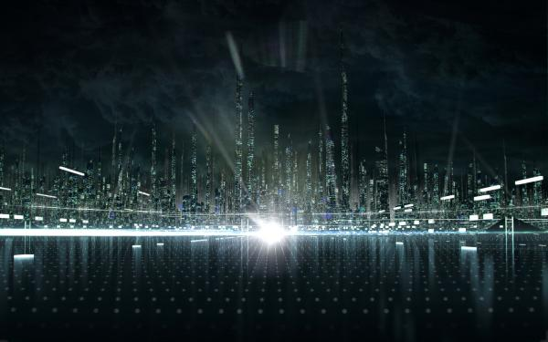 Tron Legacy  City Concept  By Shelest