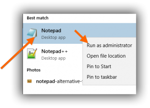 run-notepad-as-administrator